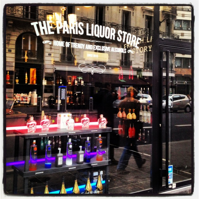 Paris liquor store